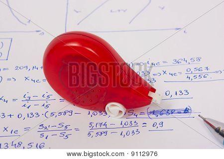 Corrector on written paper