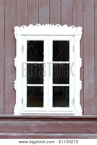 One Window Of Old Wooden House