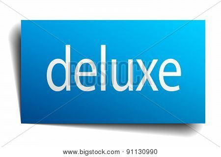 Deluxe Blue Paper Sign On White Background