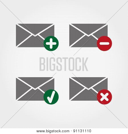 Envelopes Web Icons.