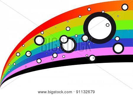 rainbow graphic