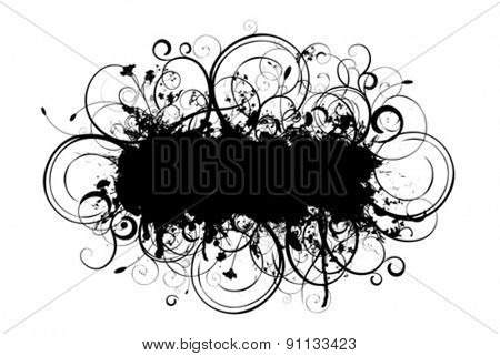silhouette floral vector