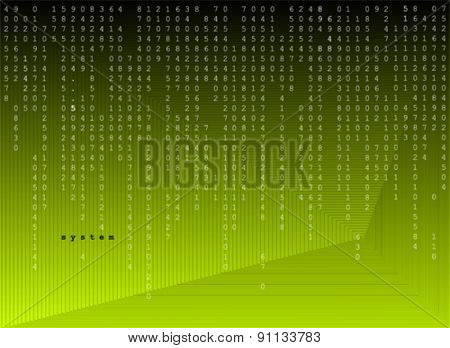 minimal code background vector