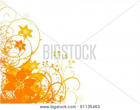 florets vector background