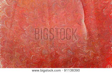 Ebru Paper Red Waves