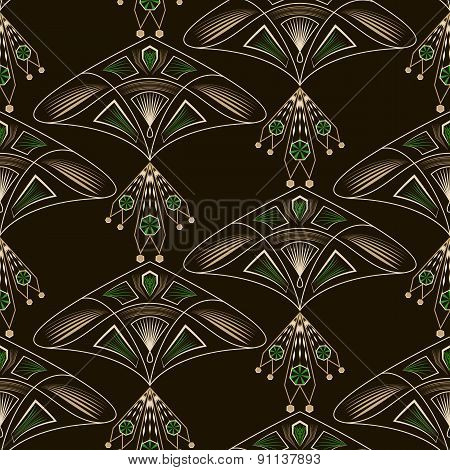 Seamless Beautiful Antique Lace Pattern Ornament. Geometric Background Design. Vector Repeating.