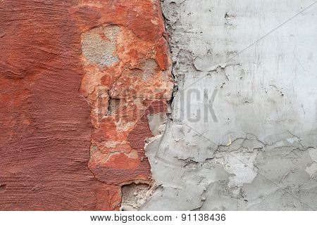 Red Gray Old Wall