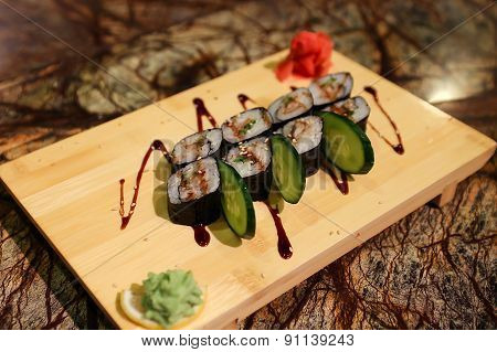 Delicious Unagi maki sushi rolls
