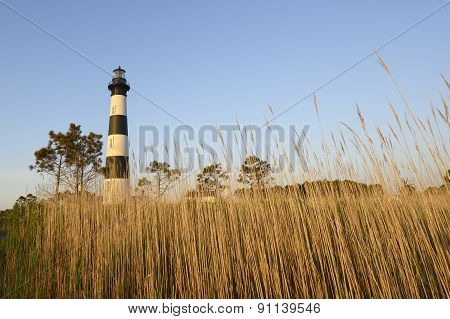 Bodie Lighthouse and Salt Marsh Grass