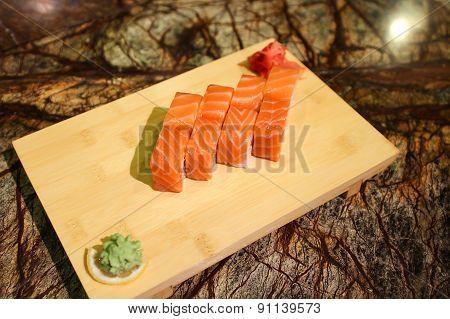 Delicious Sapporo maki sushi rolls