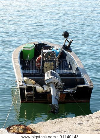 Little Italian Fishing Boat On The Sea
