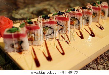 Delicious Sato maki sushi rolls