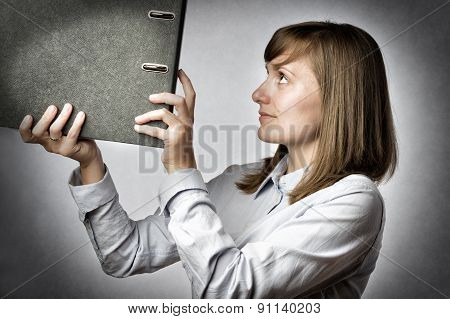 Office Worker With Folder