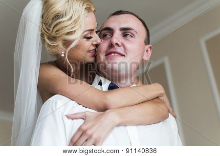 Lovely Couple In The Hotel Room