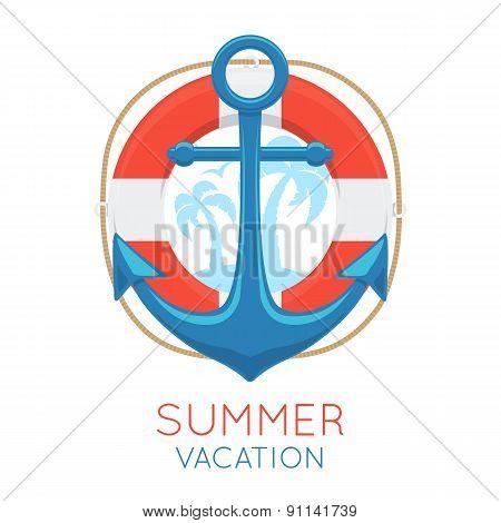 Anchor sea symbol.