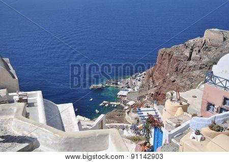 Landscape Greek Island In The Mediterranean Sea.