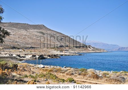 Sea Summer Landscape Coast Of The Greek Island.