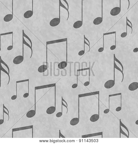 Gray Music Notes Tile Pattern Repeat Background