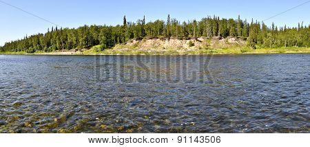 Panorama, Wild Ural River.