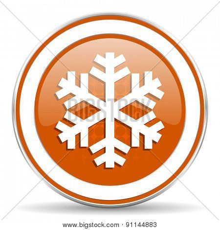 snow orange icon air conditioning sign