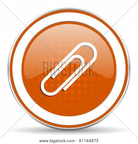 paperclip orange icon