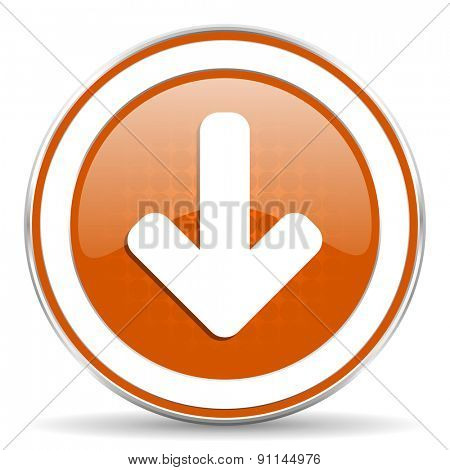 download arrow orange icon arrow sign