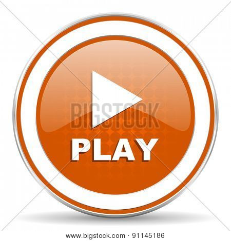 play orange icon