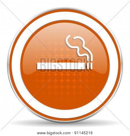 cigarette orange icon nicotine sign