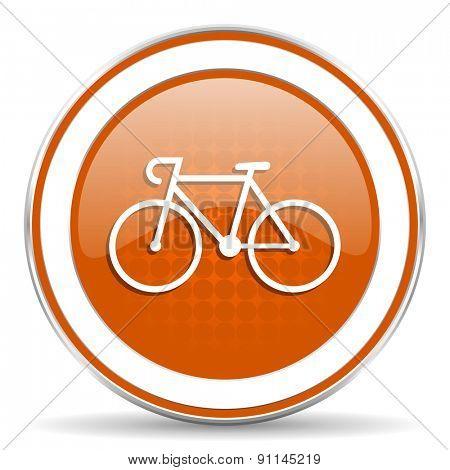 bicycle orange icon bike sign
