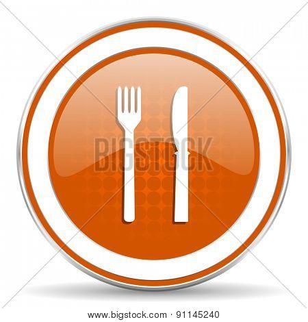 eat orange icon restaurant sign