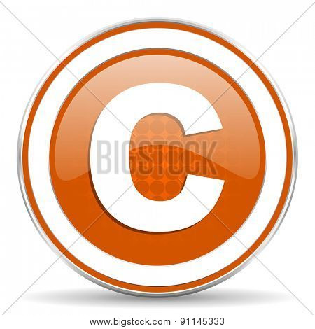 copyright orange icon
