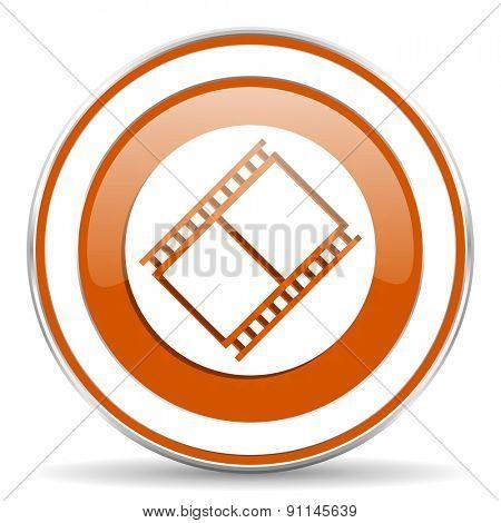 film orange icon movie sign cinema symbol