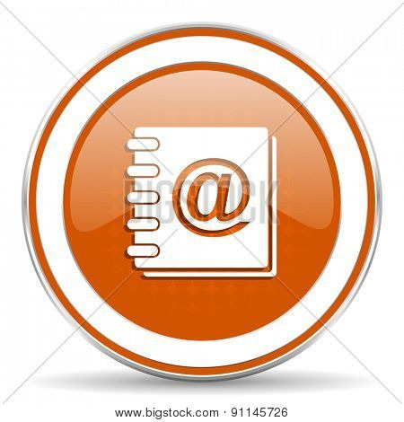 address book orange icon