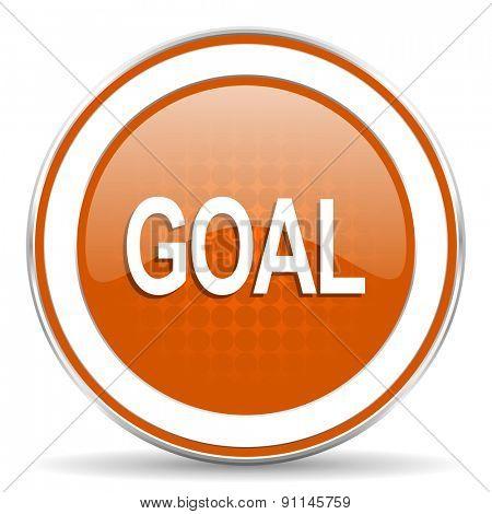 goal orange icon
