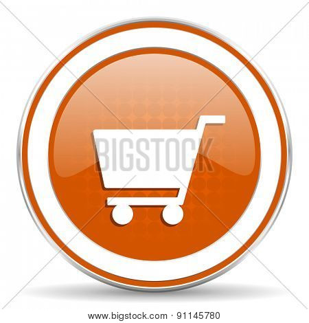 cart orange icon shop sign
