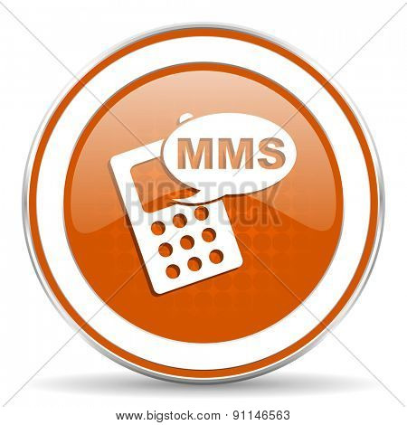 mms orange icon phone sign