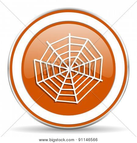 spider web orange icon