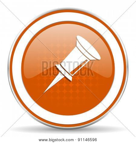 pin orange icon