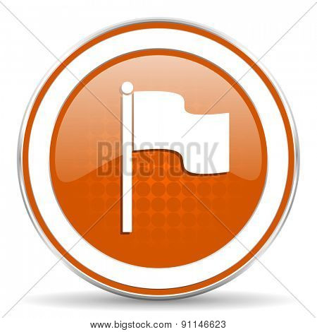 flag orange icon