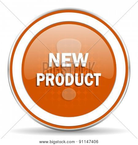 new product orange icon