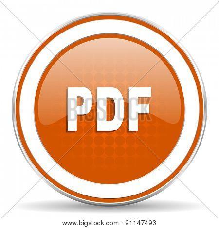 pdf orange icon