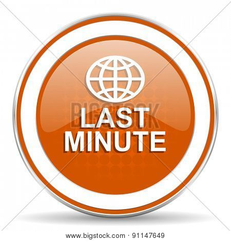 last minute orange icon