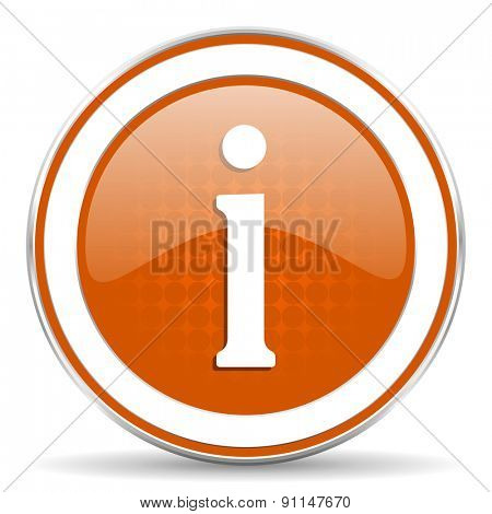 information orange icon
