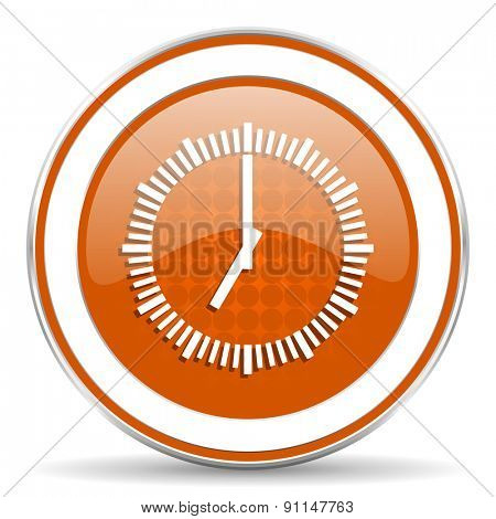 time orange icon clock sign