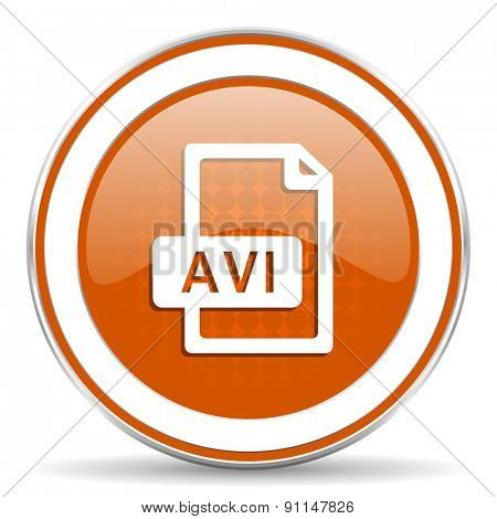 avi file orange icon