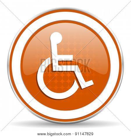 wheelchair orange icon
