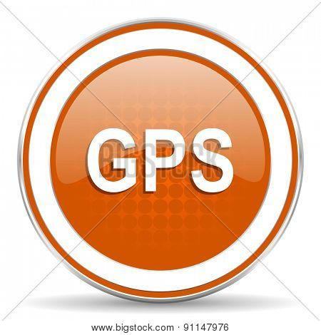 gps orange icon