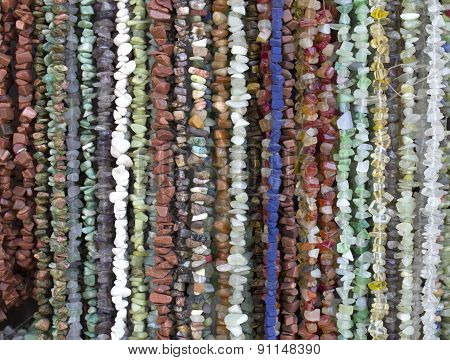 Many Necklaces Of Semiprecious Stones