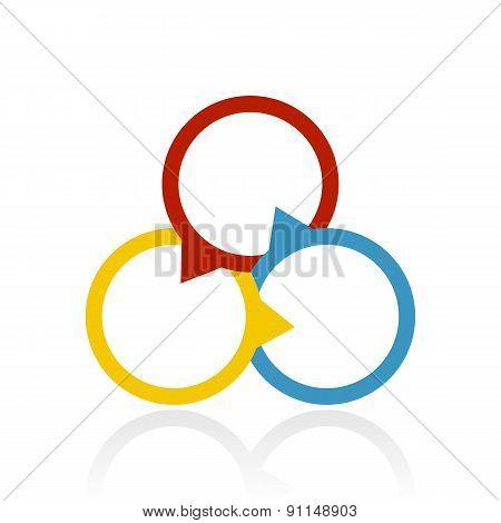 Color Venn Diagram Icon