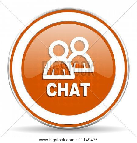 chat orange icon